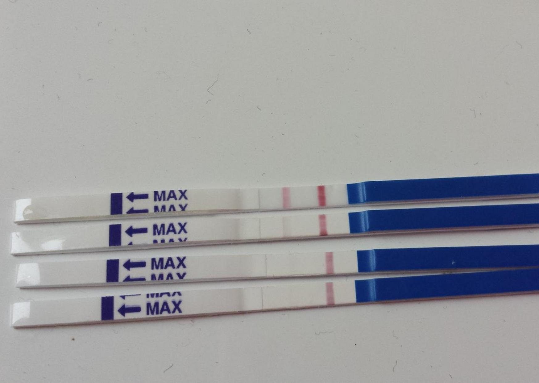 duch na těhotenském testu